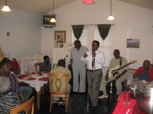 Dr. Richard Bailey at the Aframsouth Juneteenth celebration 2013